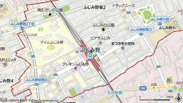 埼玉県富士見市ふじみ野東1丁目1周辺の地図