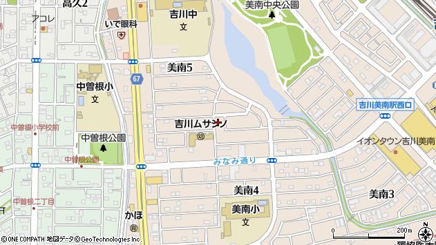 埼玉県吉川市美南5丁目周辺の地図
