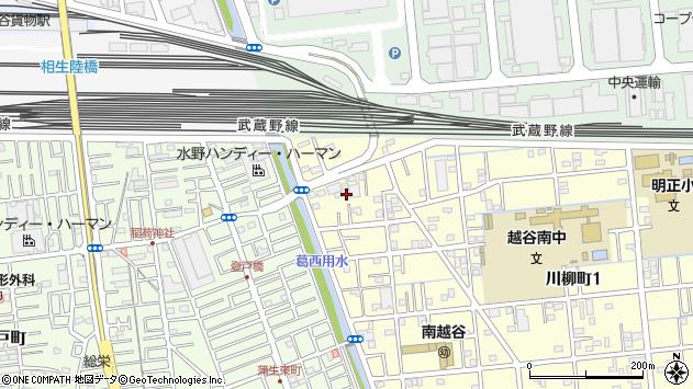 埼玉県越谷市川柳町周辺の地図