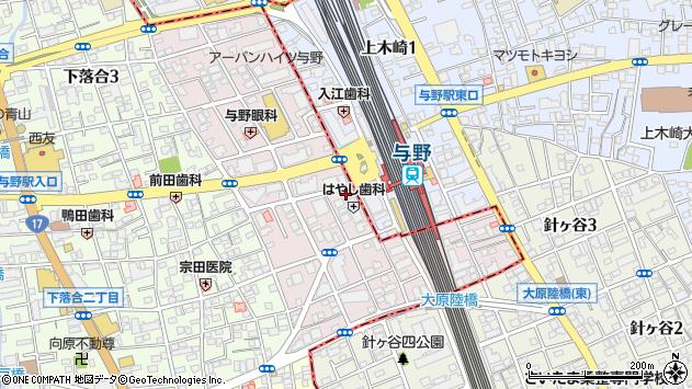 埼玉県さいたま市中央区下落合周辺の地図