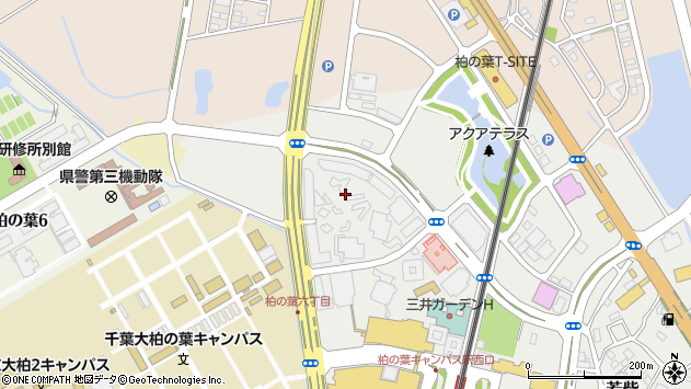 千葉県柏市若柴227-6周辺の地図