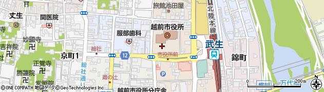 福井県越前市周辺の地図