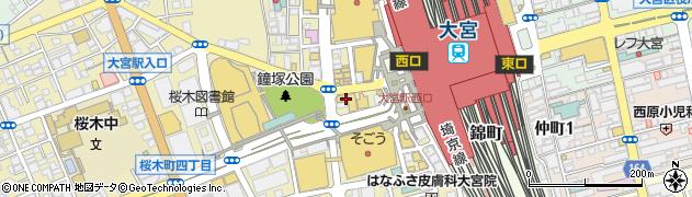 埼玉県さいたま市大宮区桜木町1丁目1-11周辺の地図