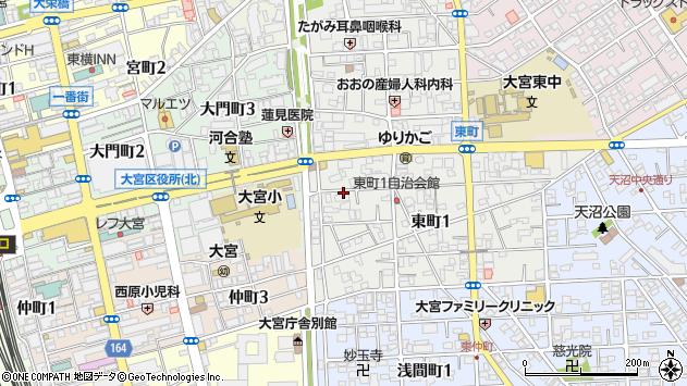 埼玉県さいたま市大宮区東町 地図(住所一覧から検索 ...