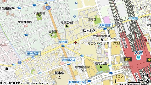 埼玉県さいたま市大宮区桜木町周辺の地図
