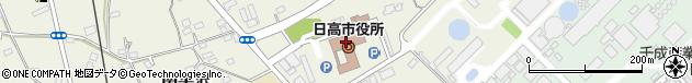 埼玉県日高市周辺の地図