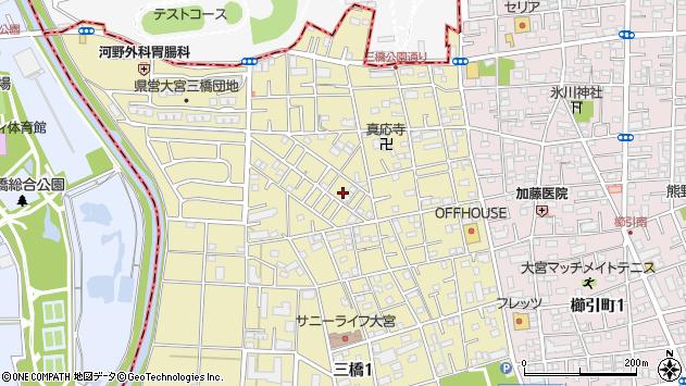 埼玉県さいたま市大宮区三橋周辺の地図
