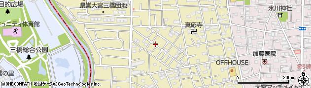 埼玉県さいたま市大宮区三橋1丁目周辺の地図