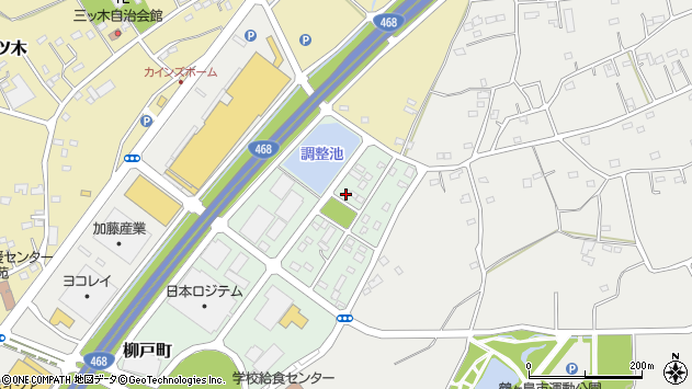埼玉県鶴ヶ島市柳戸町周辺の地図