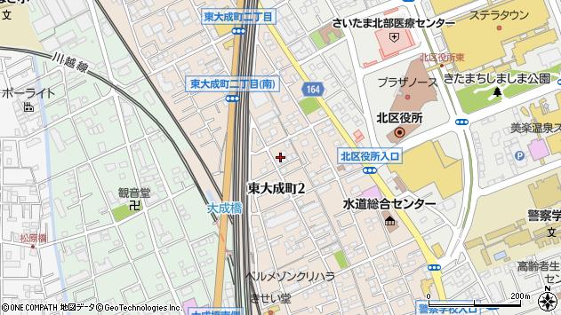 埼玉県さいたま市北区東大成町2丁目周辺の地図