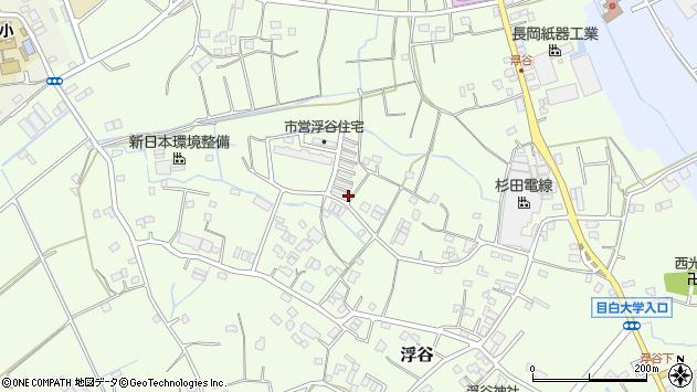 埼玉県さいたま市岩槻区浮谷周辺の地図