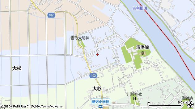 埼玉県越谷市大松周辺の地図