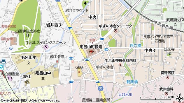埼玉県入間郡毛呂山町周辺の地図