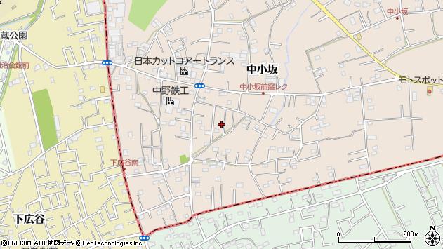 埼玉県坂戸市中小坂周辺の地図