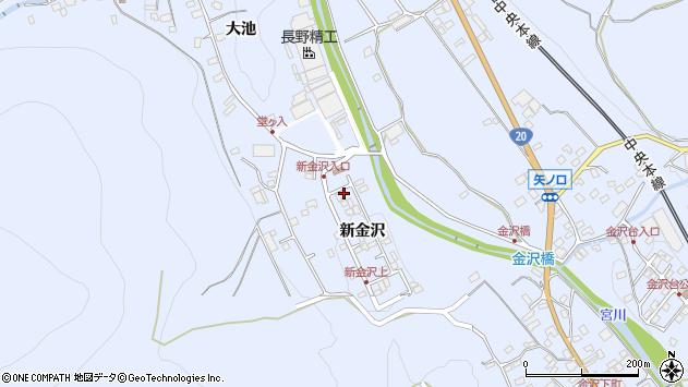 長野県茅野市金沢新金沢周辺の地図