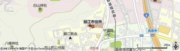 福井県鯖江市周辺の地図