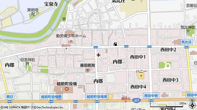 福井県丹生郡越前町西田中周辺の地図