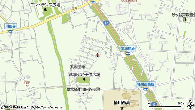 埼玉県桶川市川田谷周辺の地図