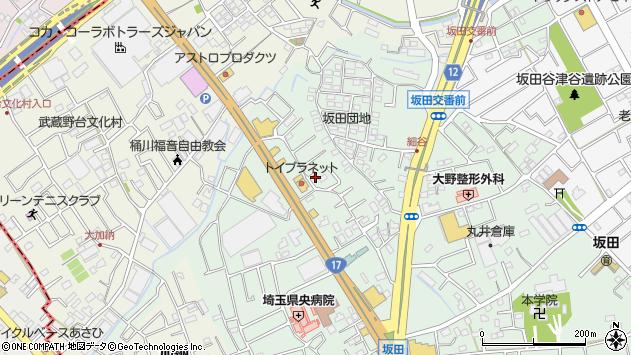 埼玉県桶川市坂田1668周辺の地図