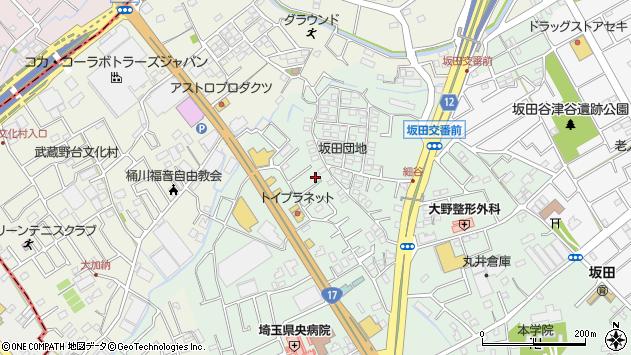 埼玉県桶川市坂田1672周辺の地図