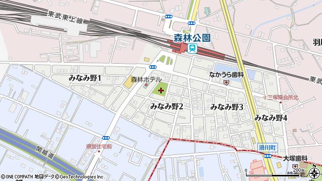 埼玉県比企郡滑川町みなみ野2丁目周辺の地図