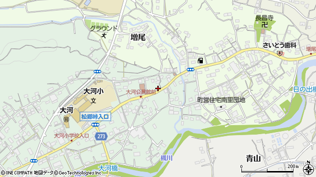 埼玉県比企郡小川町腰越周辺の地図