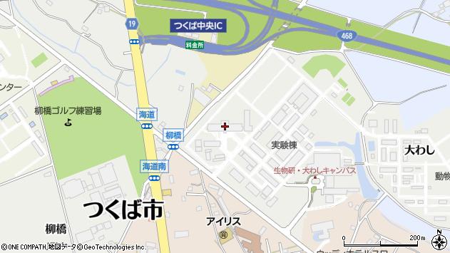 茨城県つくば市大わし1-1周辺の地図