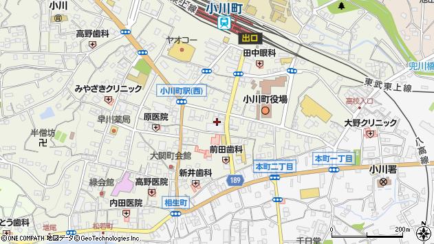 埼玉県比企郡小川町大塚35周辺の地図