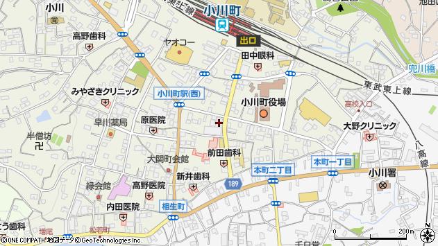 埼玉県比企郡小川町大塚34周辺の地図