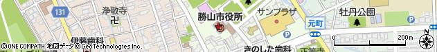 福井県勝山市周辺の地図