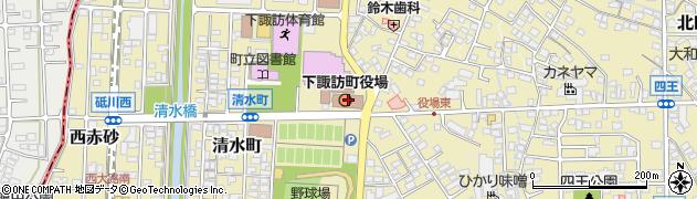 長野県諏訪郡下諏訪町周辺の地図