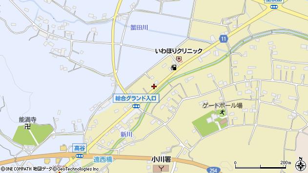 埼玉県比企郡小川町上横田911-6周辺の地図