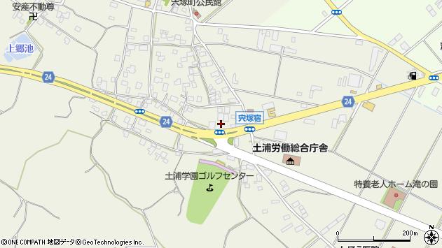 茨城県土浦市宍塚周辺の地図