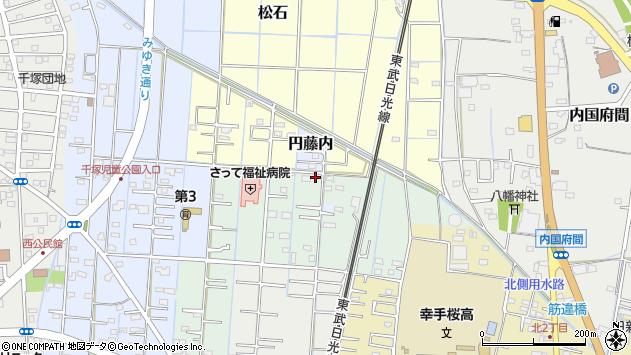 埼玉県幸手市幸手3406周辺の地図