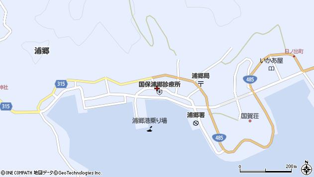 島根県隠岐郡西ノ島町周辺の地図