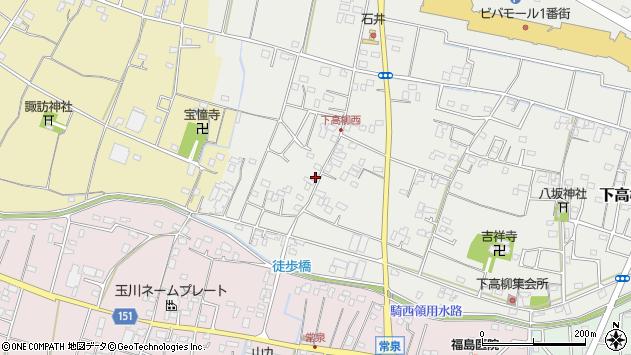 埼玉県加須市下高柳1530周辺の地図