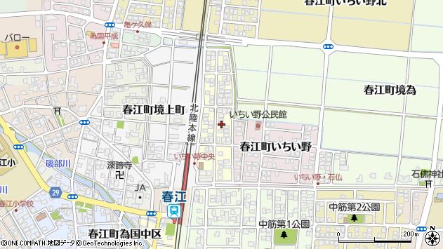 福井県坂井市春江町いちい野中央周辺の地図