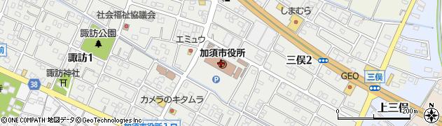 埼玉県加須市周辺の地図