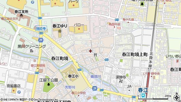 福井県坂井市春江町境元町周辺の地図