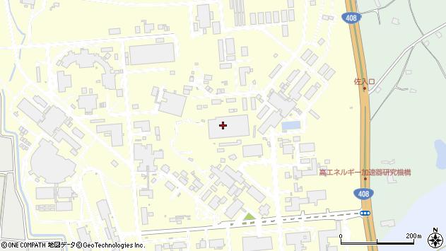 茨城県つくば市大穂周辺の地図