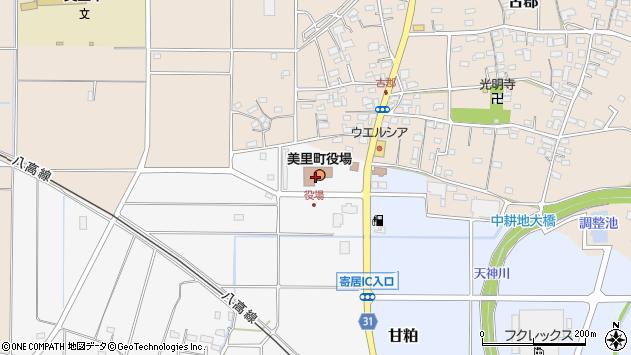埼玉県児玉郡美里町周辺の地図