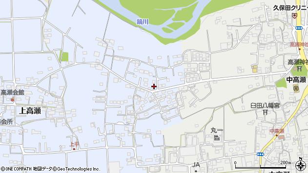 群馬県富岡市上高瀬周辺の地図