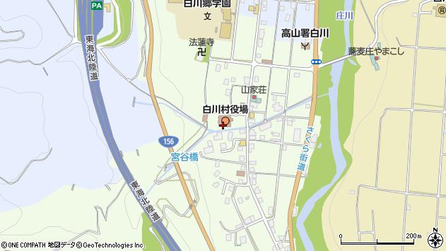 岐阜県大野郡白川村周辺の地図