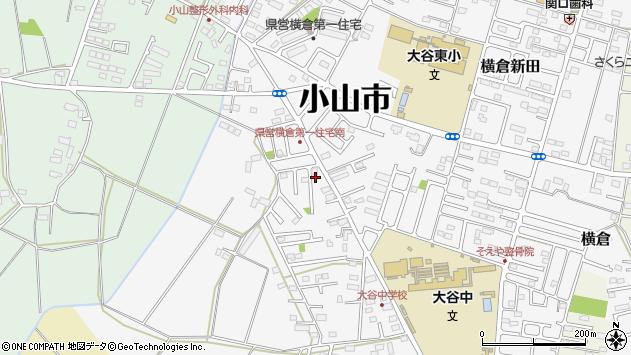 栃木県小山市横倉新田周辺の地図