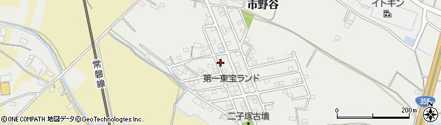 茨城県笠間市市野谷周辺の地図