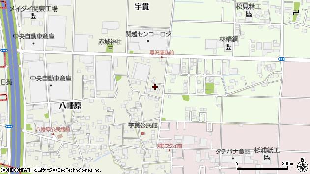 群馬県佐波郡玉村町宇貫周辺の地図
