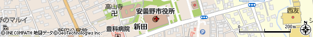 長野県安曇野市周辺の地図