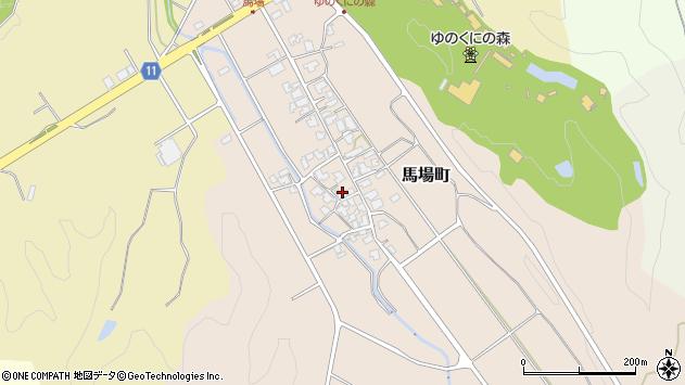 石川県小松市馬場町周辺の地図