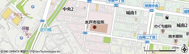 茨城県水戸市周辺の地図