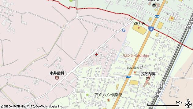 栃木県小山市南半田周辺の地図